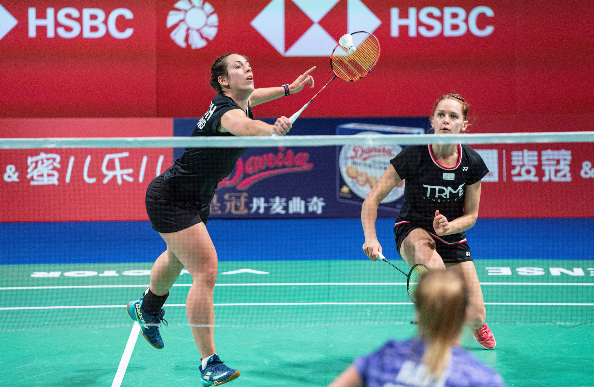 Women's doubles fourth seeds Chloe Birch and Lauren Smith were eliminated in the opening round  ©Getty Images