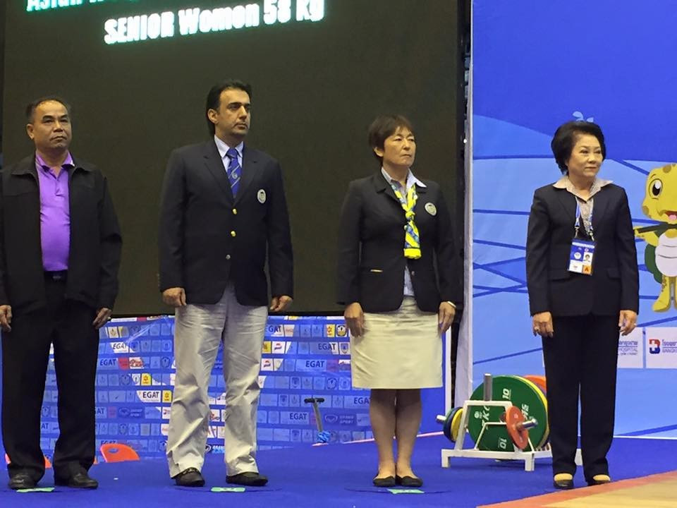Reiko Chinen, second right, has been as a technical official at five Olympic Games ©Facebook/Reiko Chinen