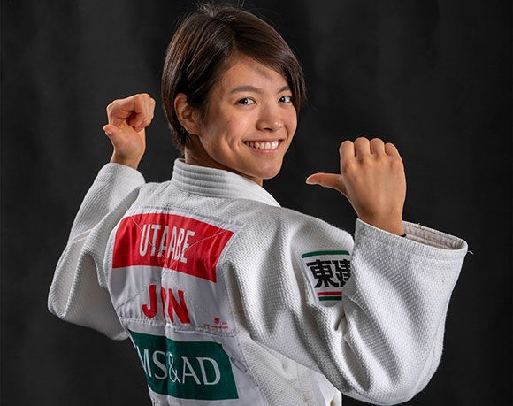 Uta Abe is set to return to action in Tashkent ©IJF