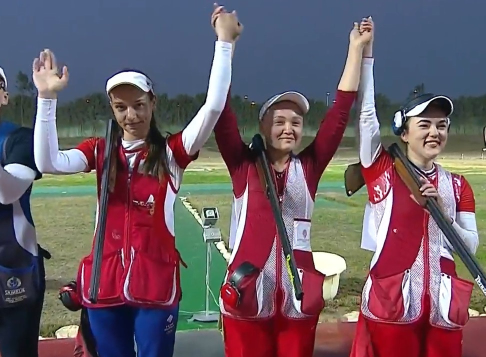 Russia withstood a fightback from India to win women's trap team gold in Cairo ©YouTube/ISSF