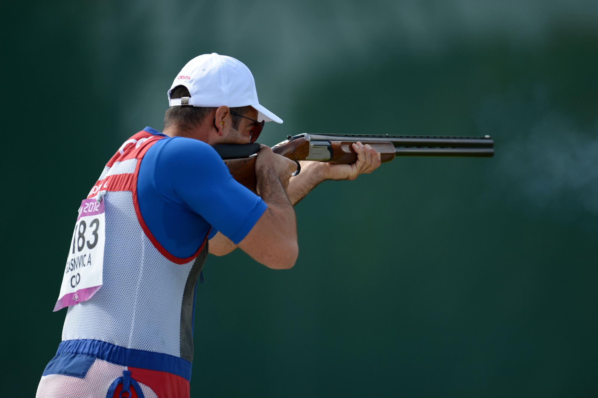 ساعد أنطون جلاسنوفيتش كرواتيا على هزيمة روسيا في نهائي فريق الرجال المصيدة © Getty Images