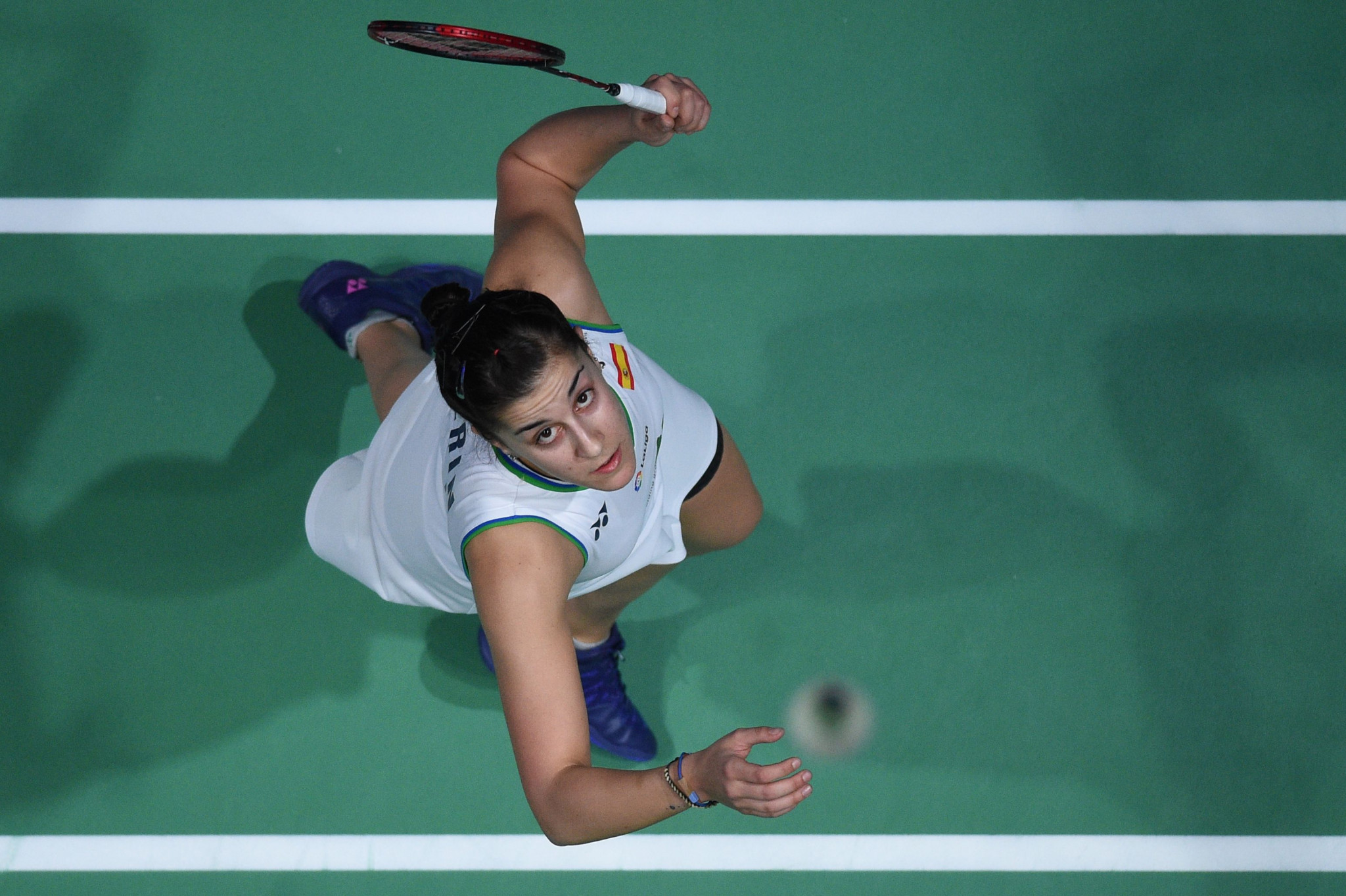 Olympic champion Carolina Marín has opened the BWF Swiss Open with back-to-back straight-games victories ©Getty Images