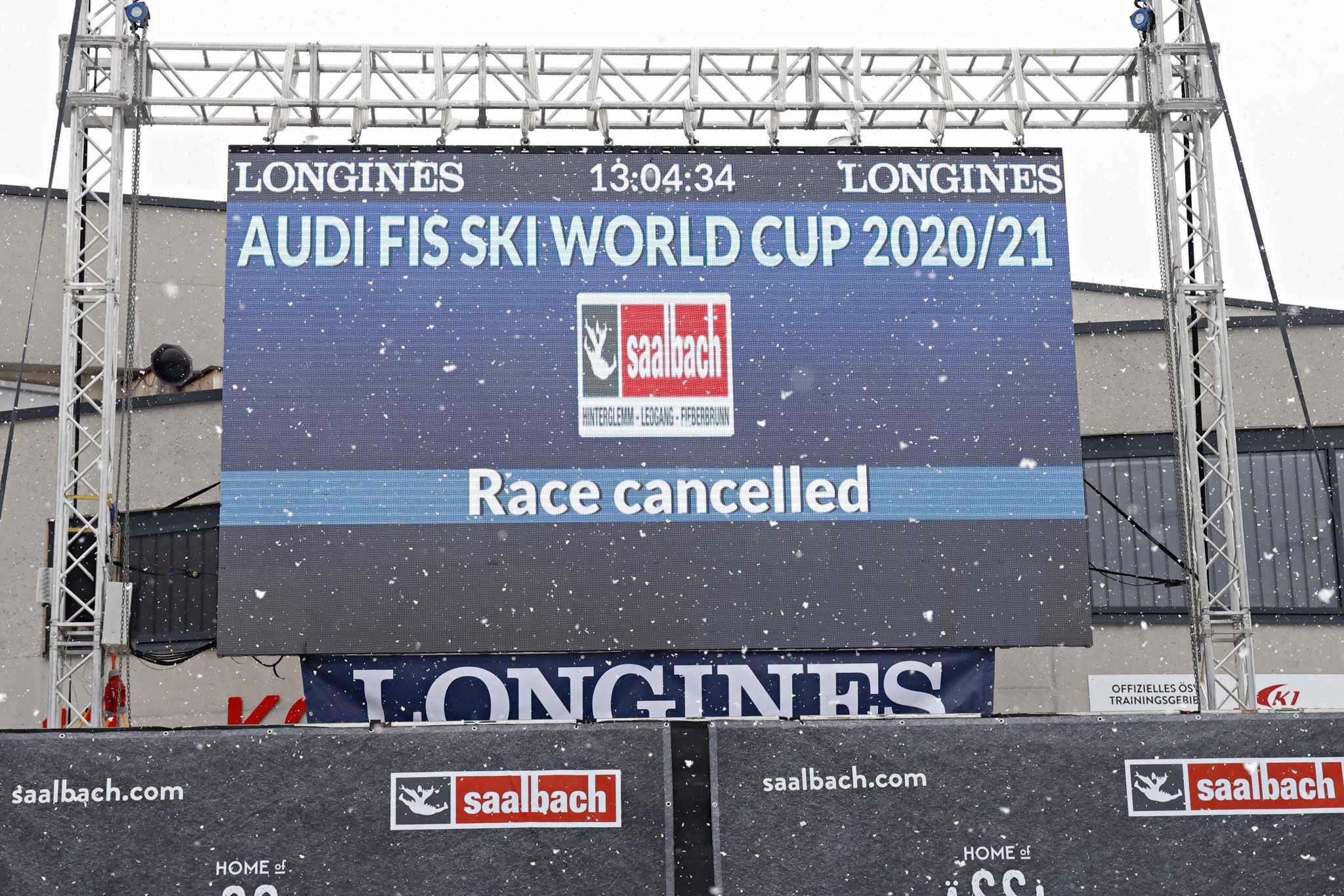Adverse weather forces cancellation of first FIS Alpine World Cup downhill in Saalbach