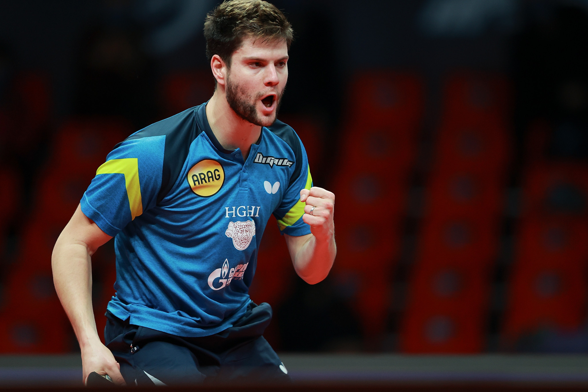 Germany's Dimitrij Ovtcharov came from two games down to triumph in the men's singles semi-finals ©Getty Images