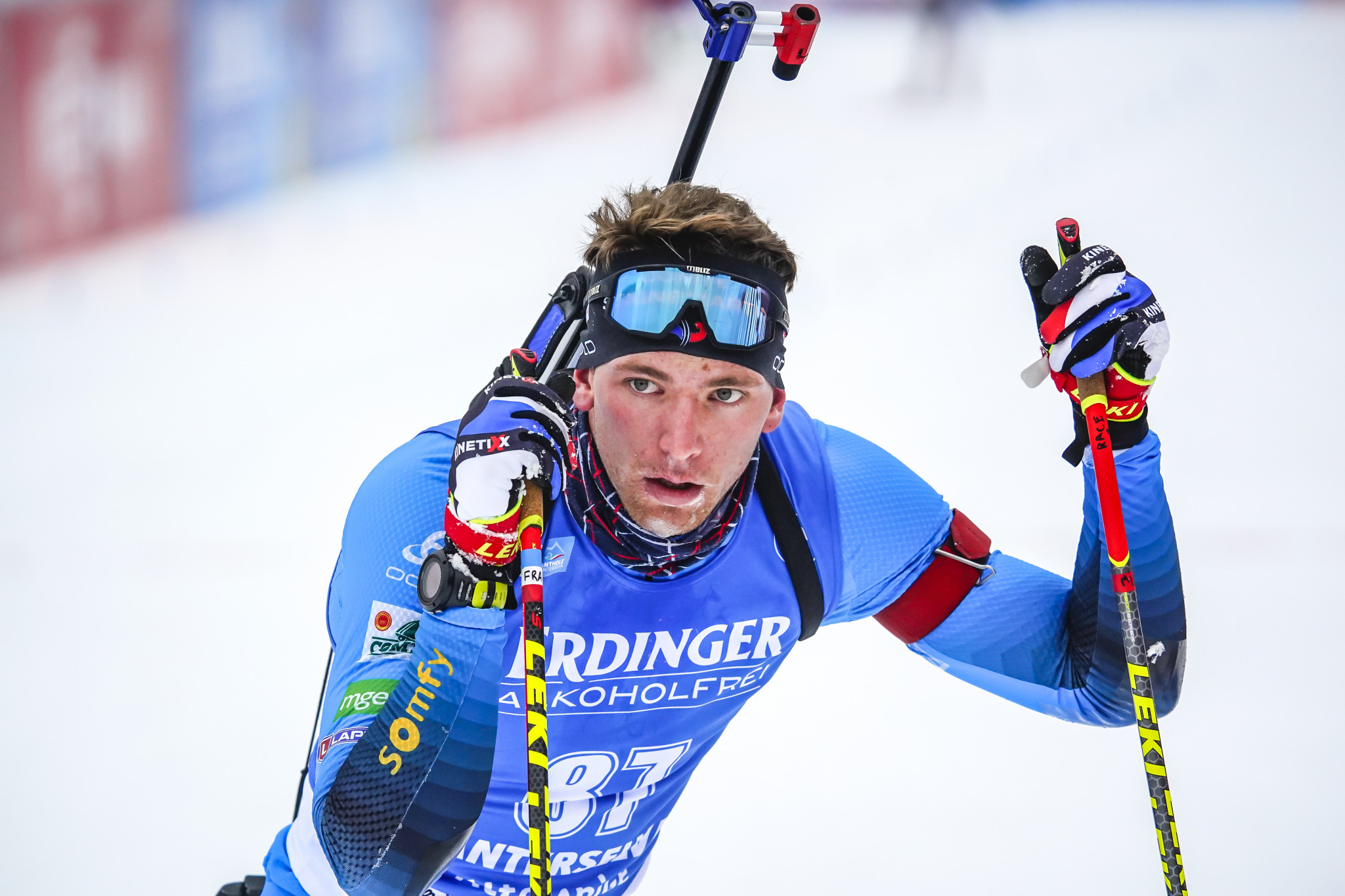 Emilien Claude anchored France to junior relay gold ©Getty Images