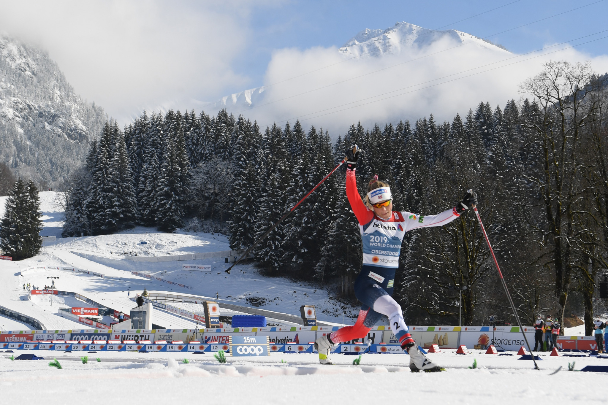 Johaug completes dominant Nordic World Ski Championships with mass start title
