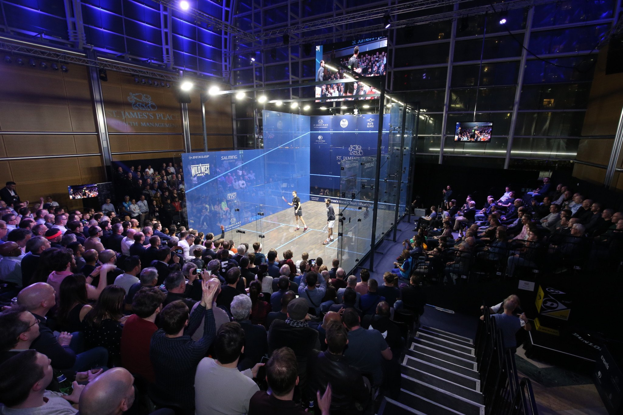 The Canary Wharf Classic, a PSA Tour Gold event, has been confirmed on the calendar for 2021 as one of two top events to take place in England ©PSA