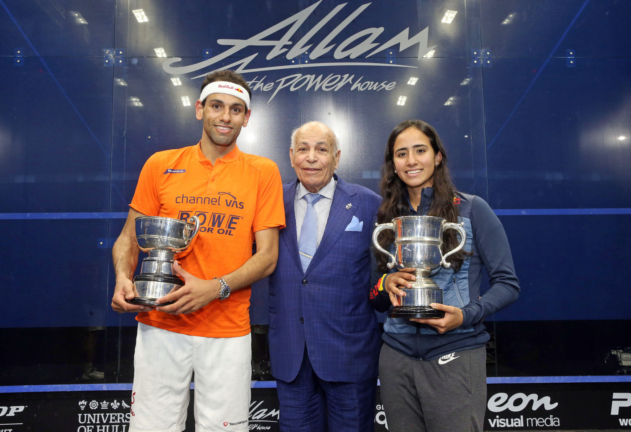 Egypt's Mohamed ElShorbagy and Nouran Gohar won the Allam British Open the last time the event was staged in 2019 ©PSA