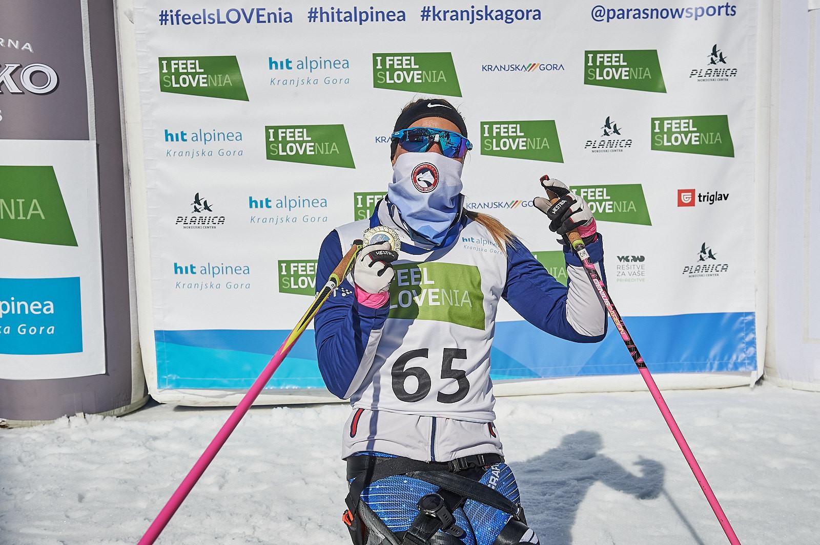 Masters and Lekomtsev win again at Para Nordic Skiing World Cup