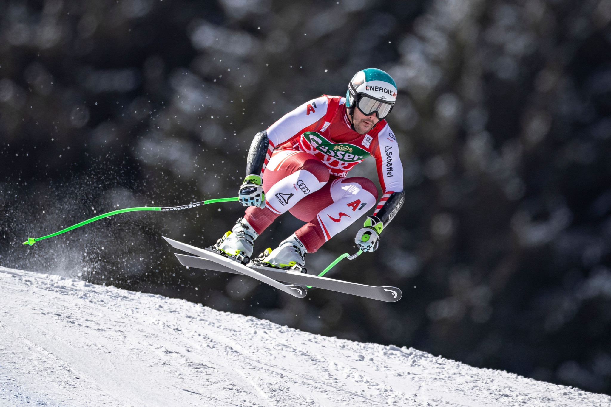 Vincent Kriechmayr of Austria missed out on confirming the super-G title ©Getty Images