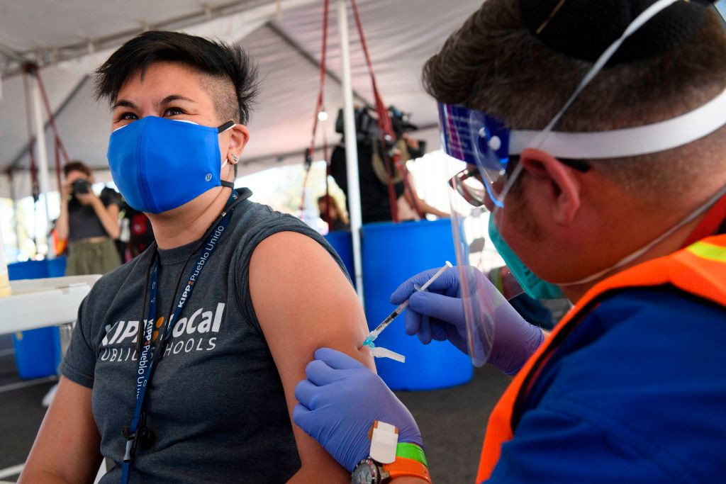 A COVID-19 vaccination centre has been opened at the site of a key Los Angeles 2028 venue ©Getty Images