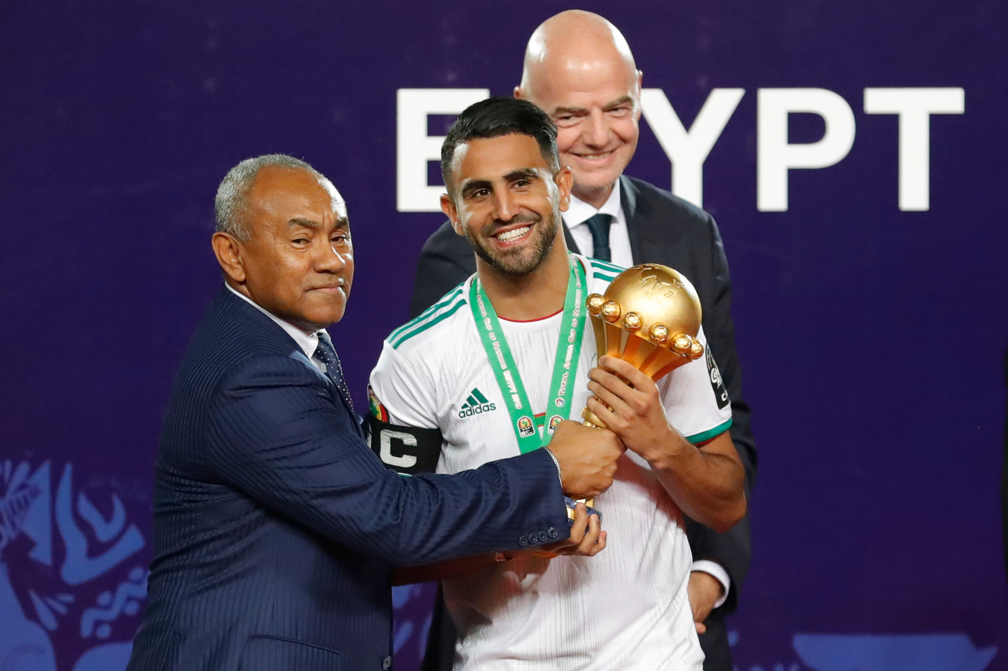 Ahmad, left, was deemed guilty of two breaches of the FIFA Code of Ethics by the CAS but cleared over dealings with Tactical Steel ©Getty Images