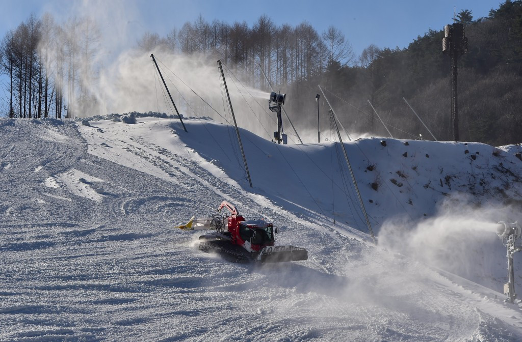 The Jeongseon Alpine Centre received a positive snow control assessment from the FIS