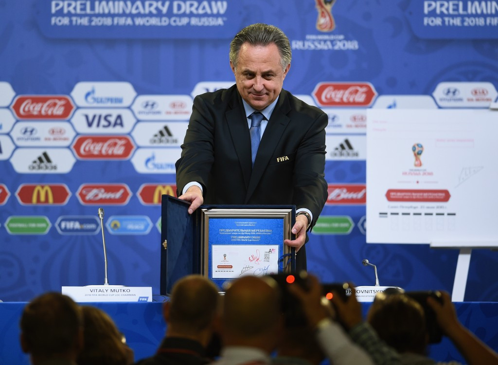 Infantino's regional World Cup plan criticised by Mutko