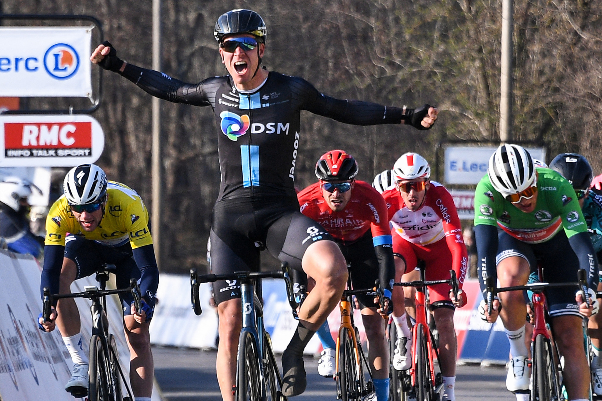Bol wins stage two of Paris-Nice as Matthews assumes race lead