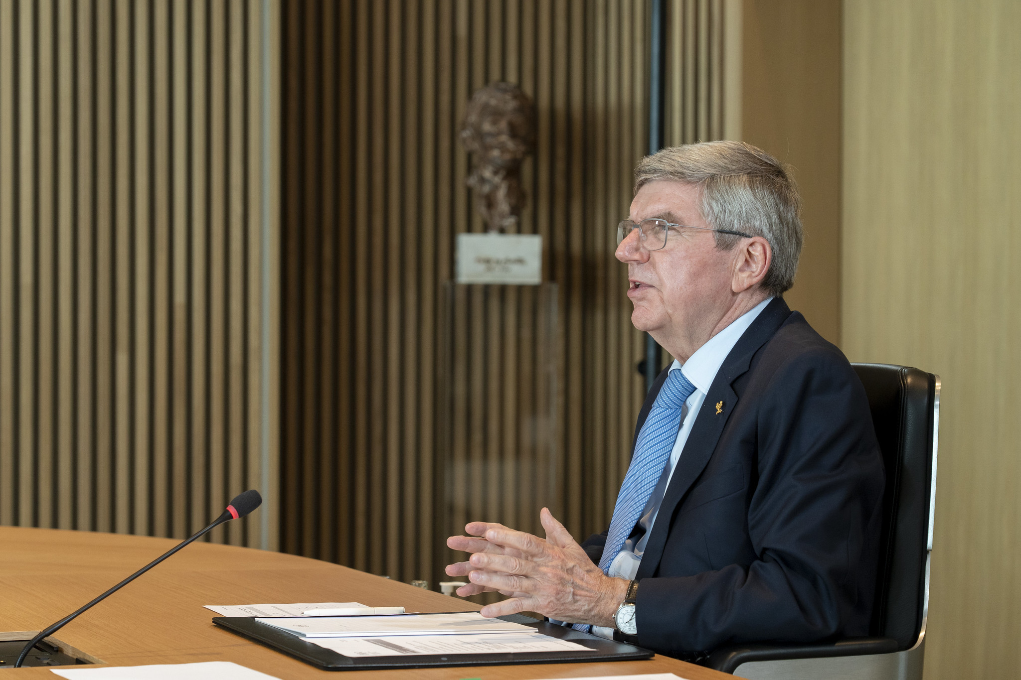 Thomas Bach is due to leave office in 2025 ©IOC