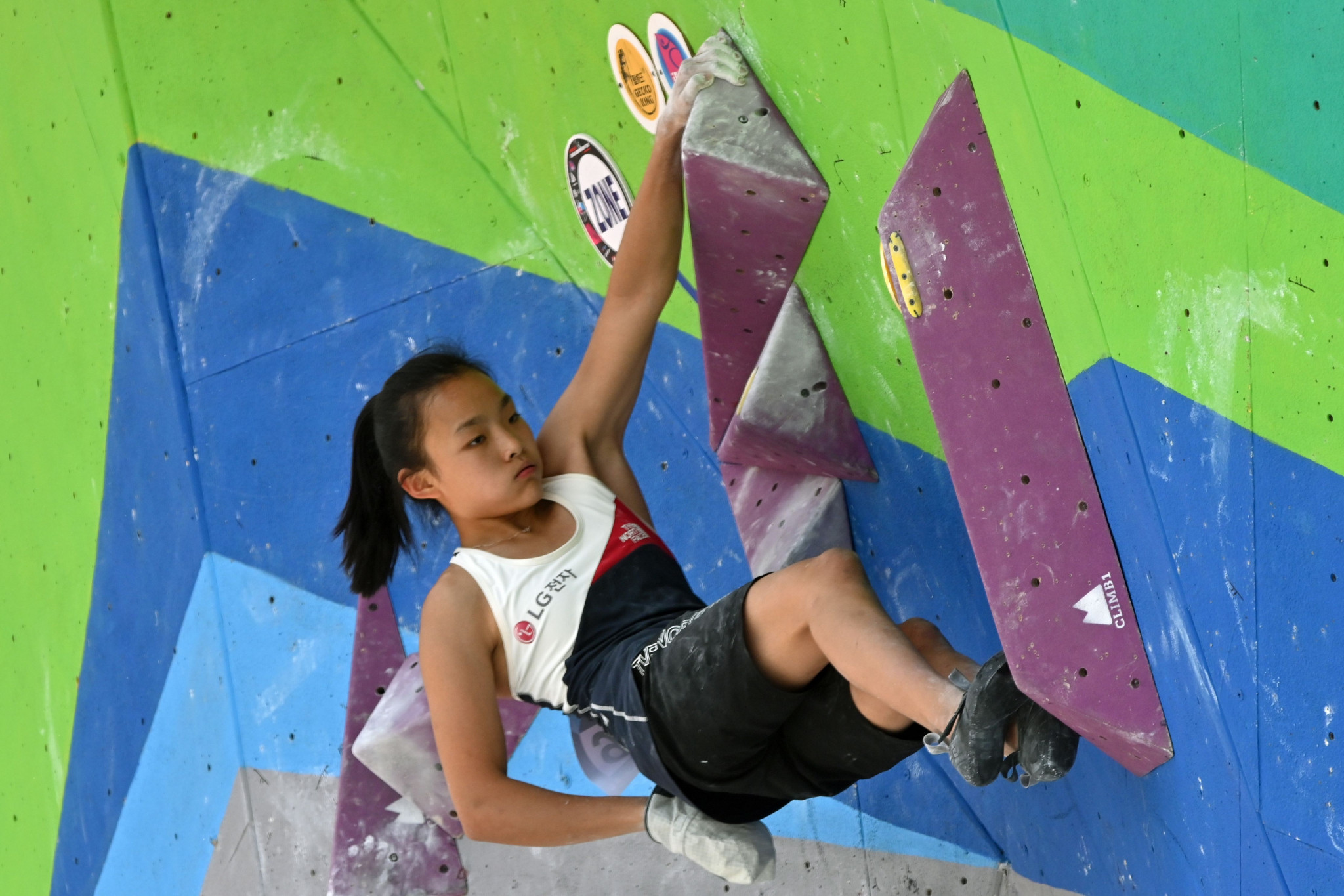 The 17-year-old Seo Chae-hyun was allocated a quota place for the Tokyo 2020 sport climbing contest ©Getty Images