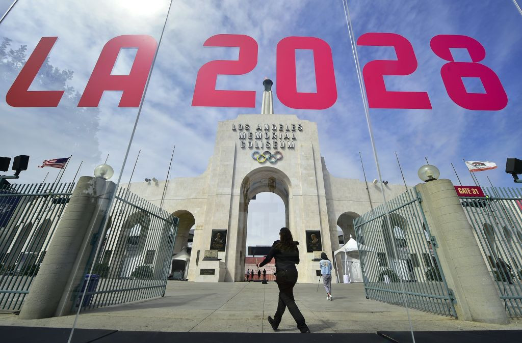 The Los Angeles Coliseum, centrepiece of the 1984 Olympics and renovated to host athletics at the LA 2028 Games, will be home to Major League Rugby's LA Giltinis for the next five years ©Getty Images