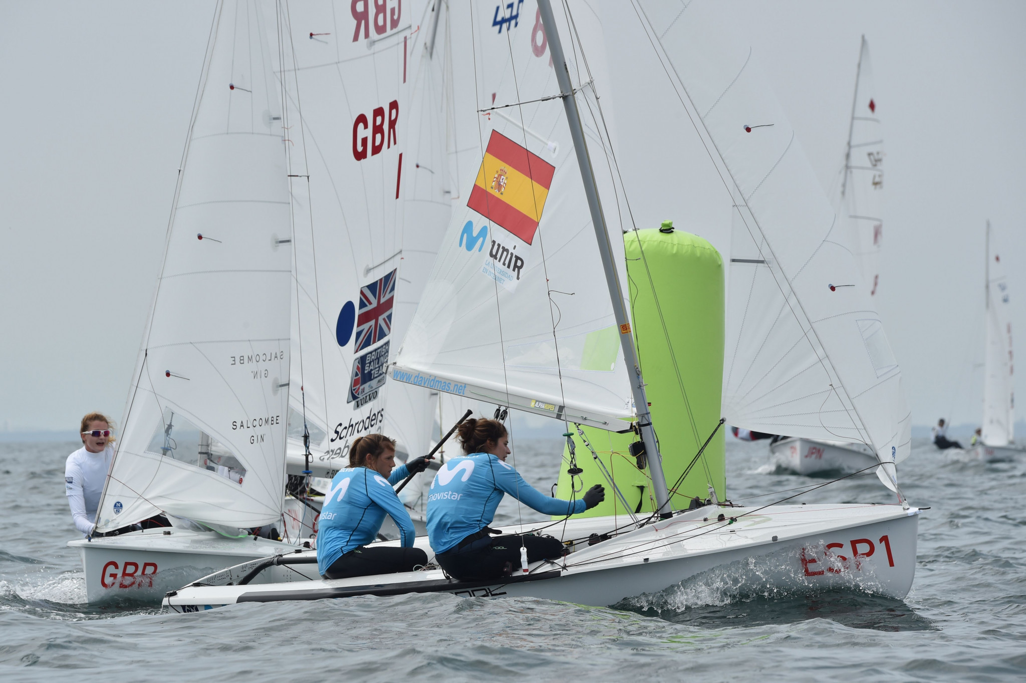 Mas and Cantero take lead of women's contest at 470 World Championships