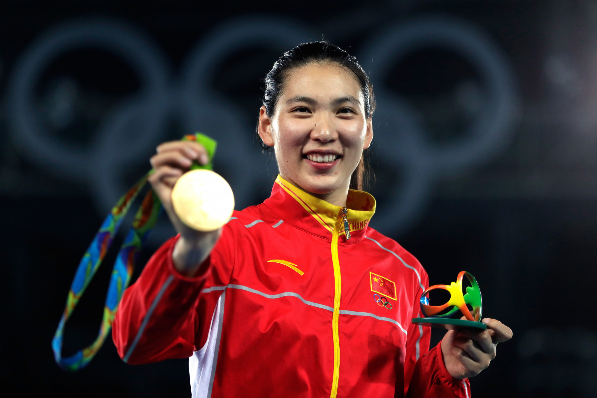 Zheng Shuyin was one of China's Olympic gold medallists in taekwondo at Rio 2016 ©Getty Images