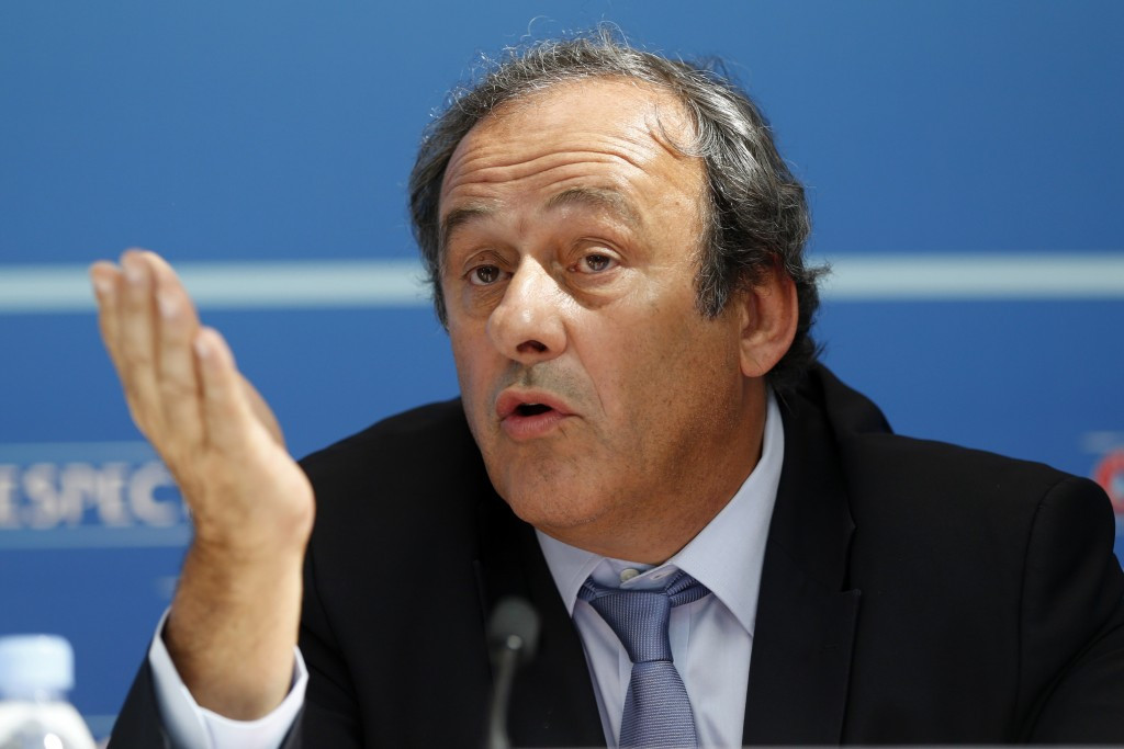 UEFA President Michel Platini will continue to be paid until further notice