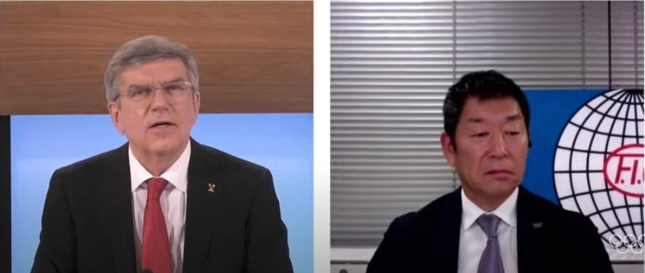FIG President Morinari Watanabe praised Thomas Bach's leadership ©IOC