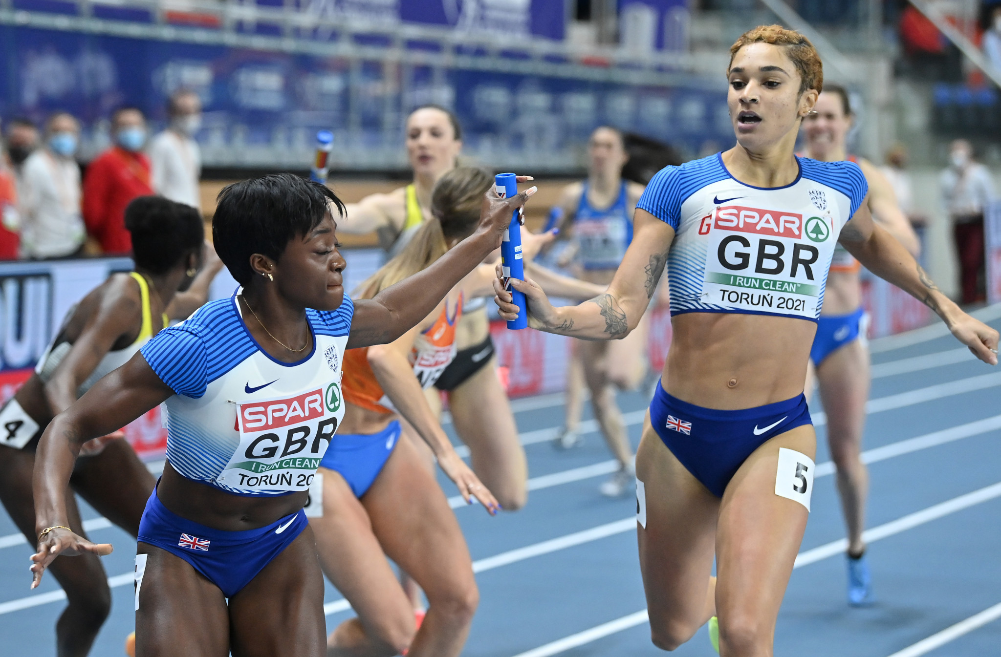 All 46 members of the British travelling party returning from the European Athletics Indoor Championships in Torun are having to quarantine for 10 days after one of their number tested positive for COVID-19 ©Getty Images
