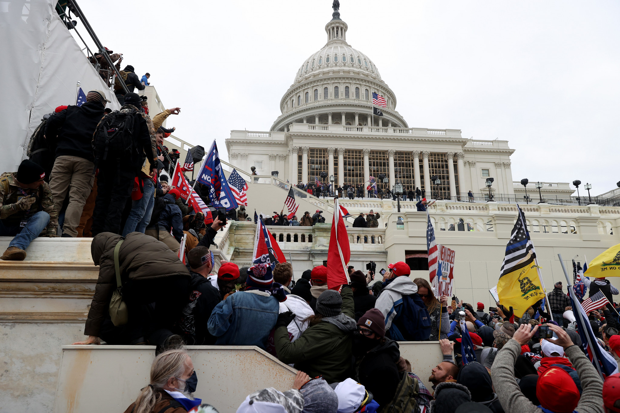 Five people were killed when supporters of Donald Trump stormed the Capitol Building ©Getty Images