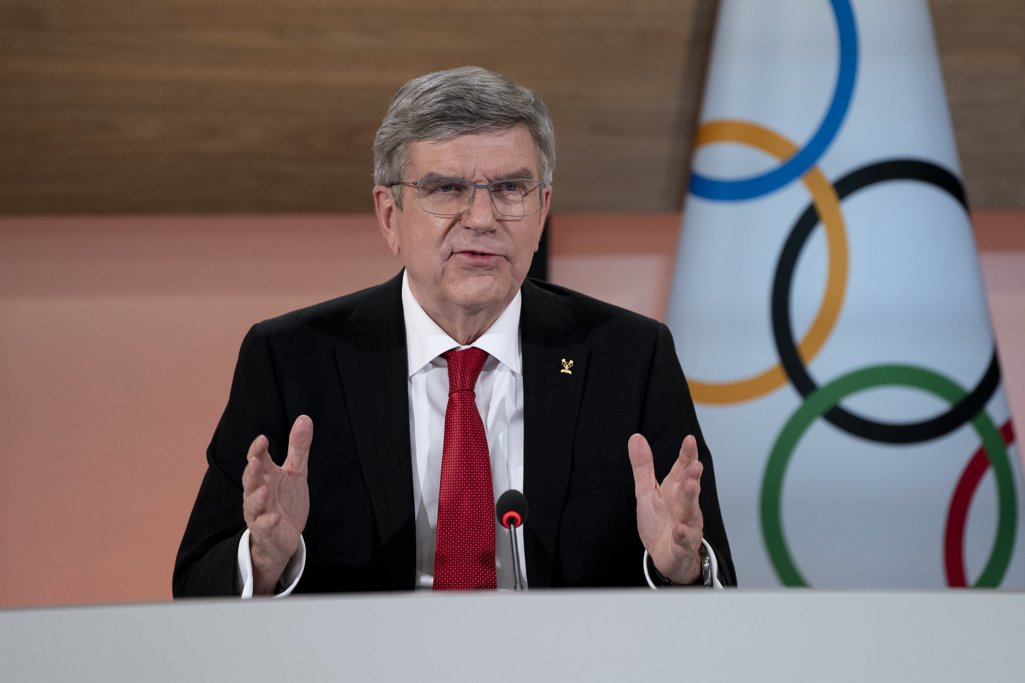 IOC President Thomas Bach revealed China has offered to vaccinate athletes for Tokyo 2020 ©IOC