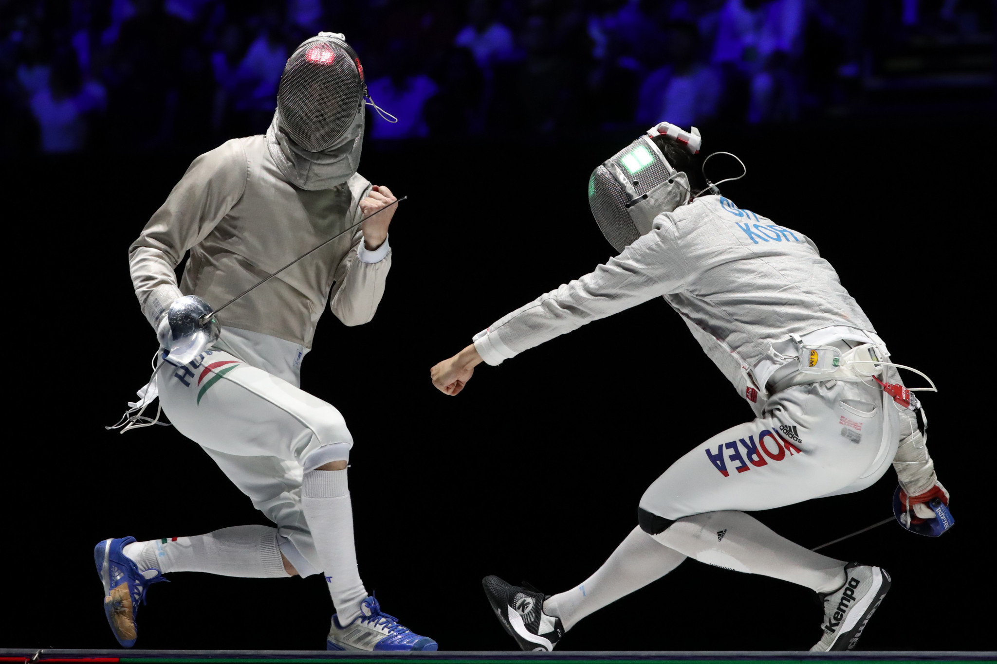 The world's best fencers in the sabre discipline are set to battle it out in Budapest ©Getty Images