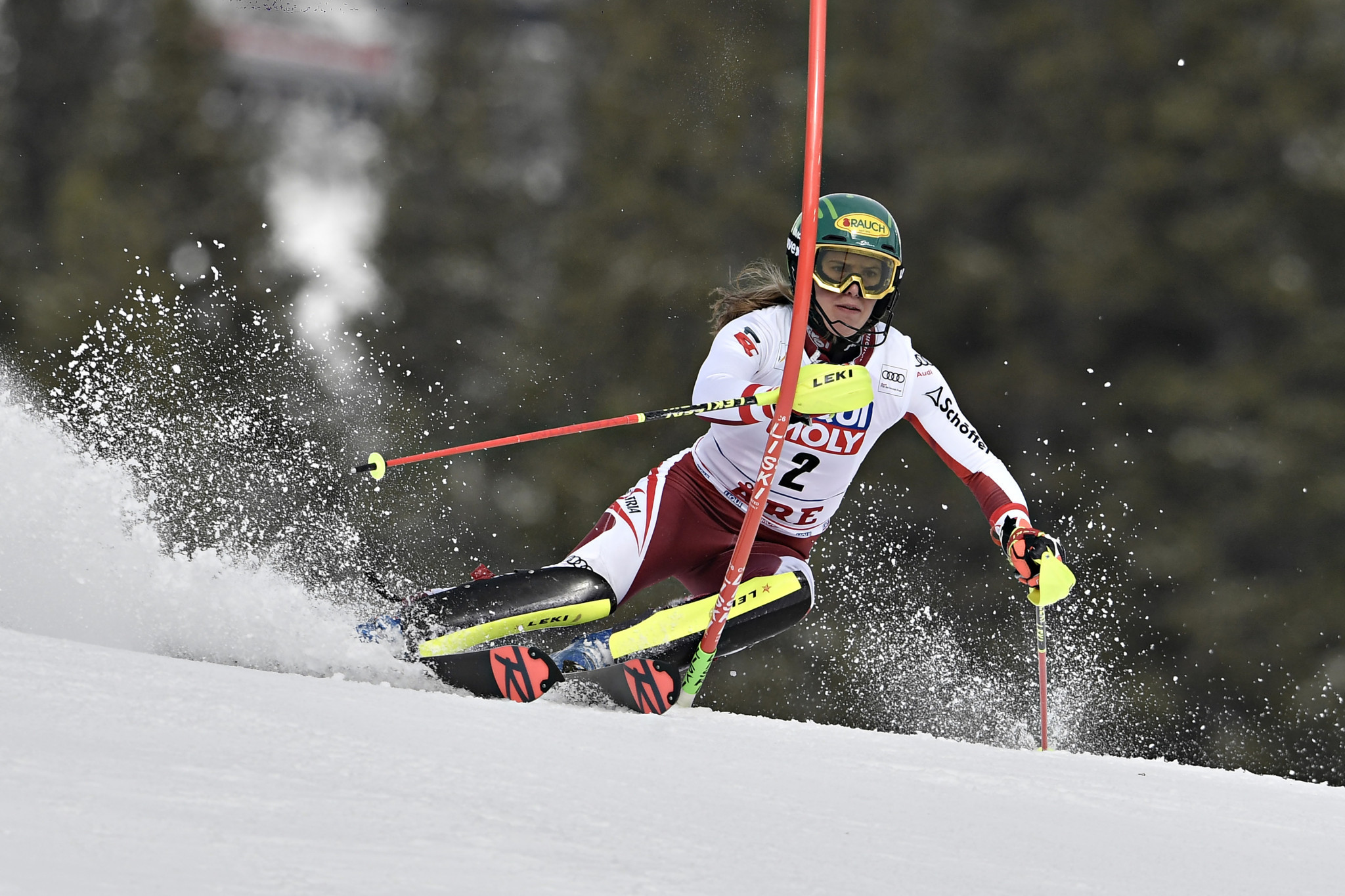 Katharina Liensberger of Austria finished second in today's slalom race ©Getty Images