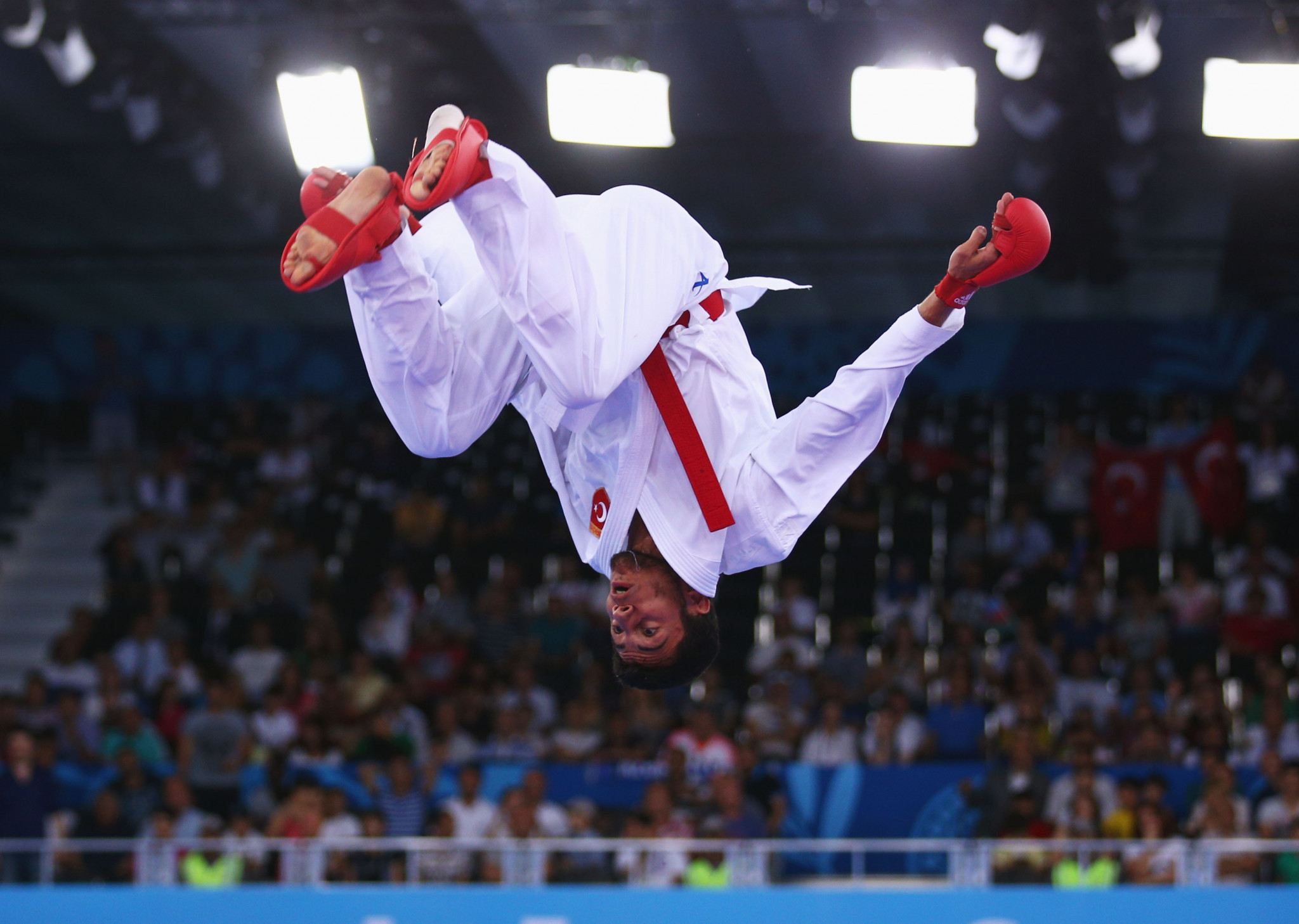Burak Uygur reached the final of the male Kumite -67kg category against edging out Devid Nhuyen ©Getty Images