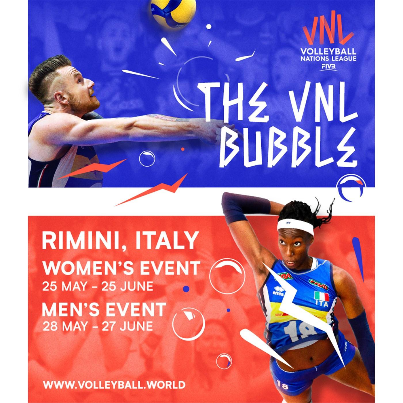La League of Volleyball Nations si terrà in una bolla a maggio e giugno © FIVB