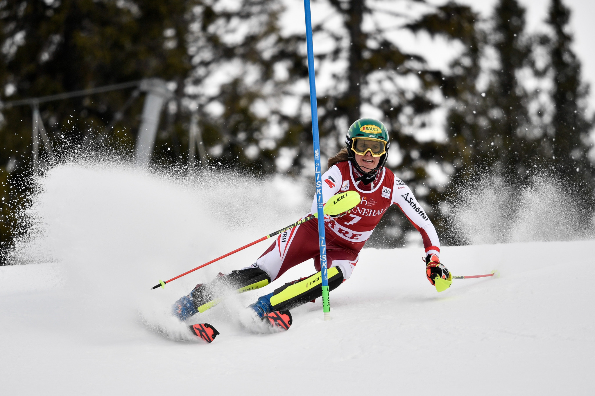 Katharina Liensberger picked up a first World Cup win in Åre ©Getty Images