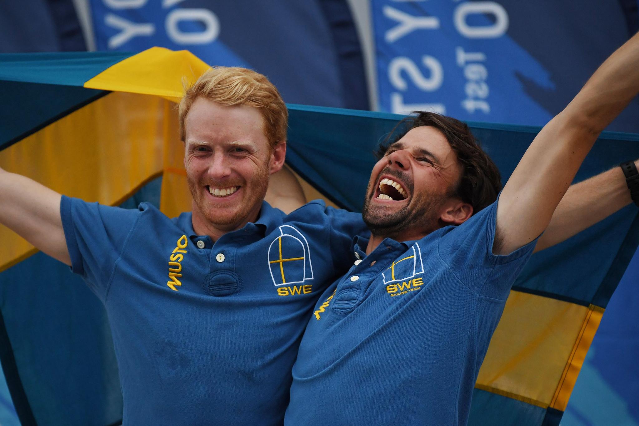 Dahlberg and Bergström claim men's gold at 470 World Championship