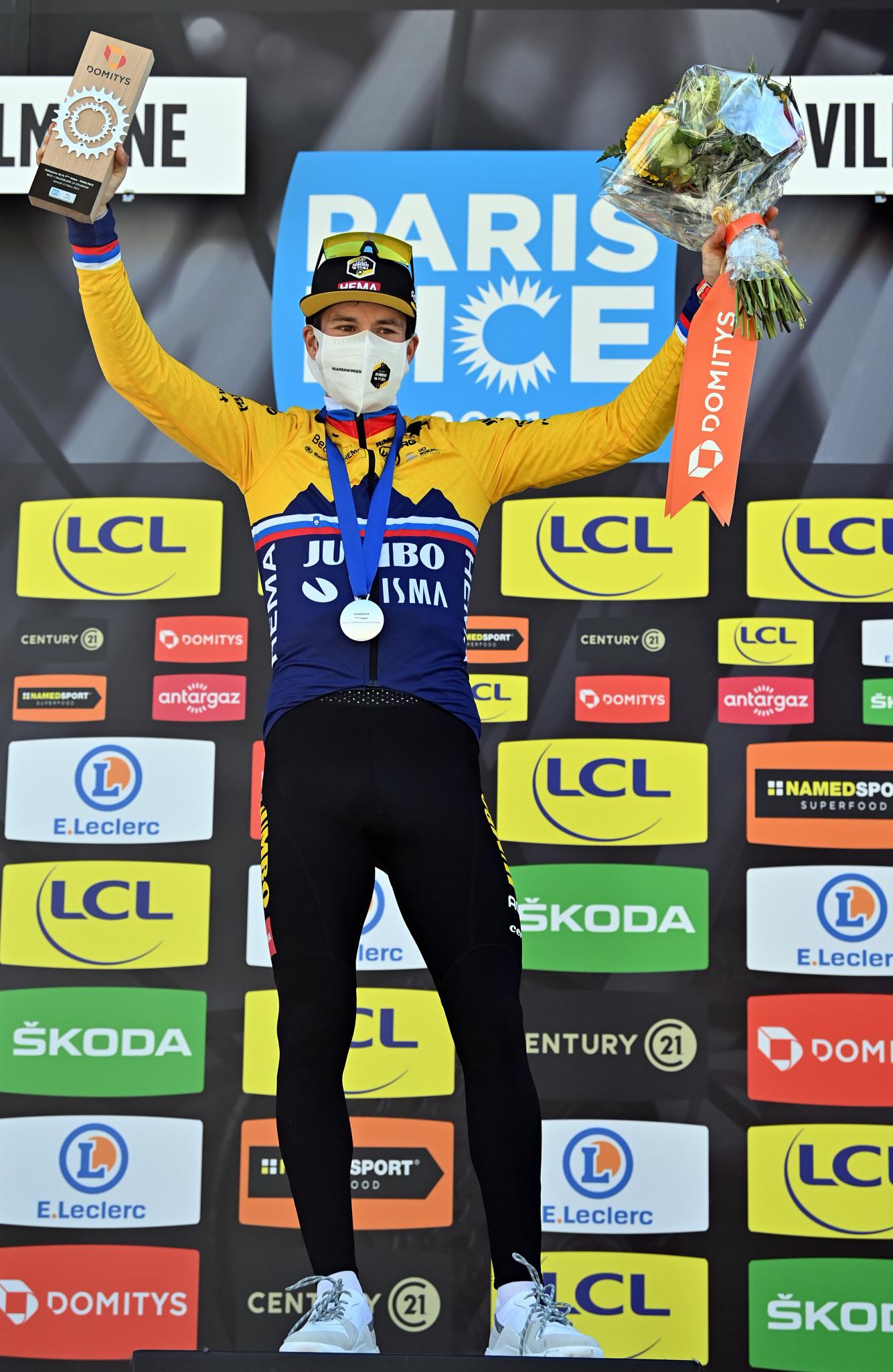 Roglič closes in on Paris-Nice crown after winning penultimate stage