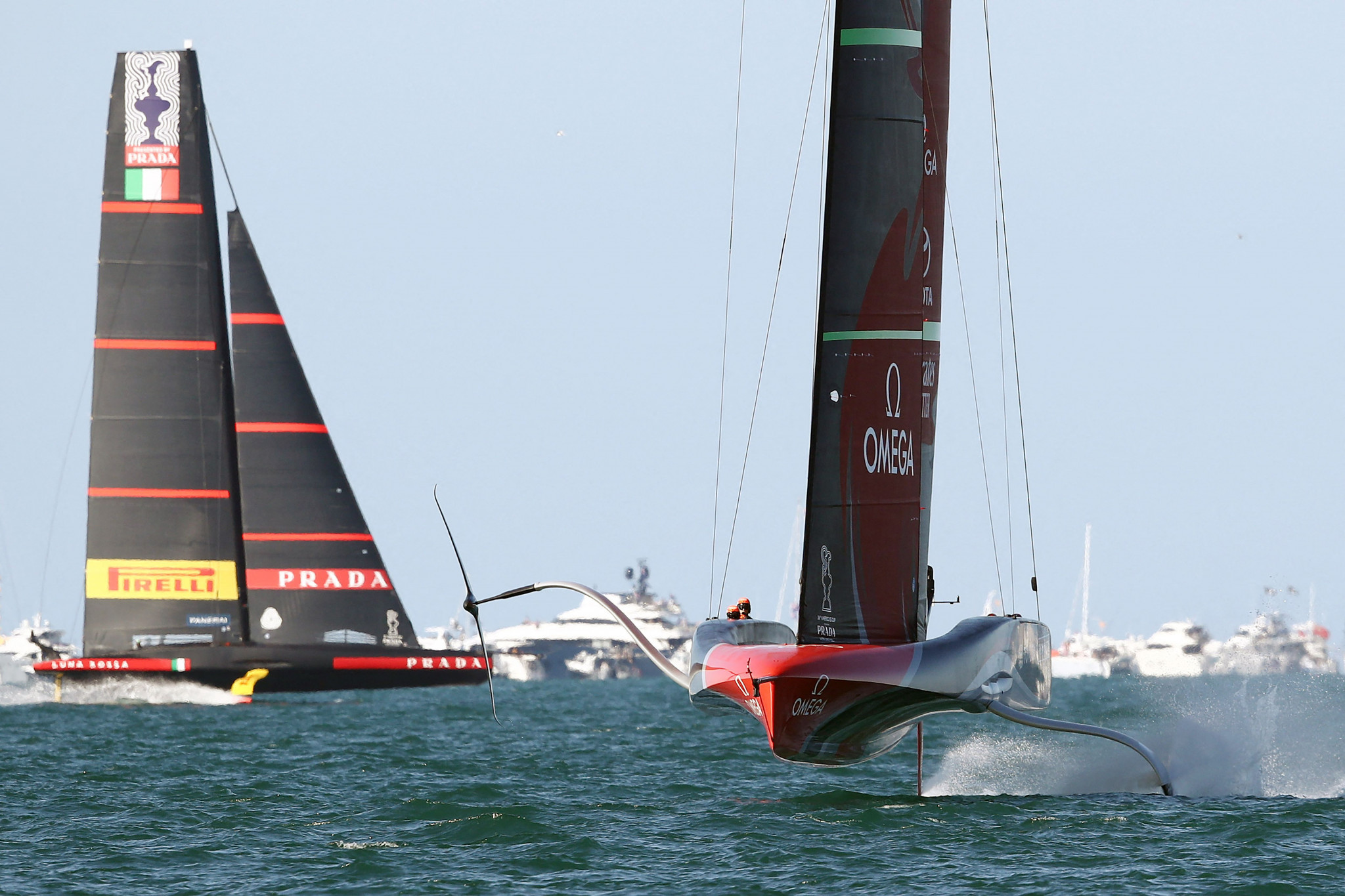 Team New Zealand and Luna Rossa level pegging in tussle to win America's Cup