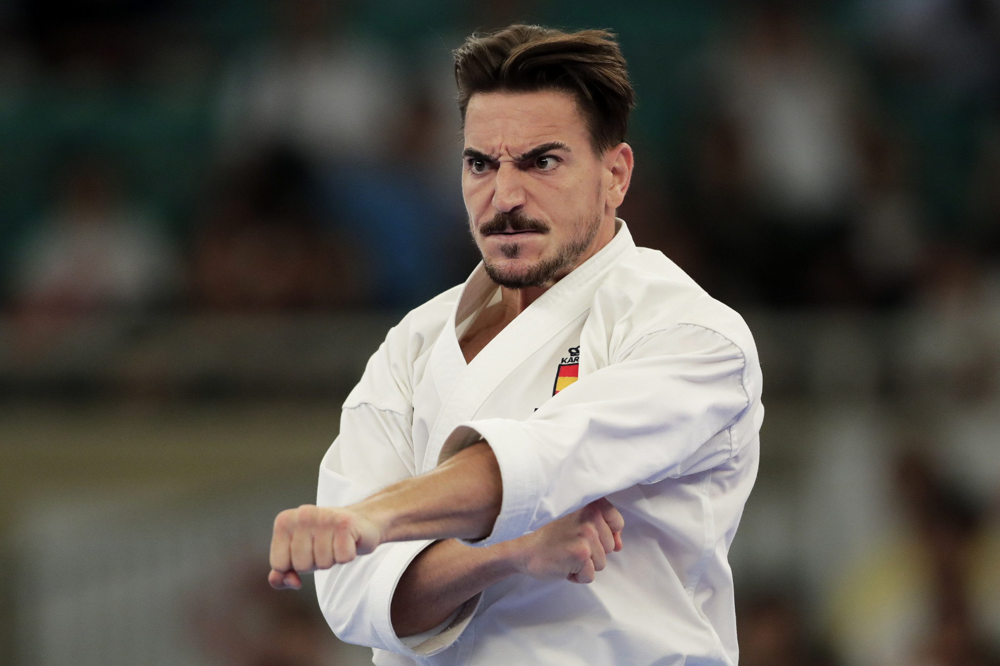 Spain's Damien Quintero reached the Male Kata final after winning his pool ©Getty Images
