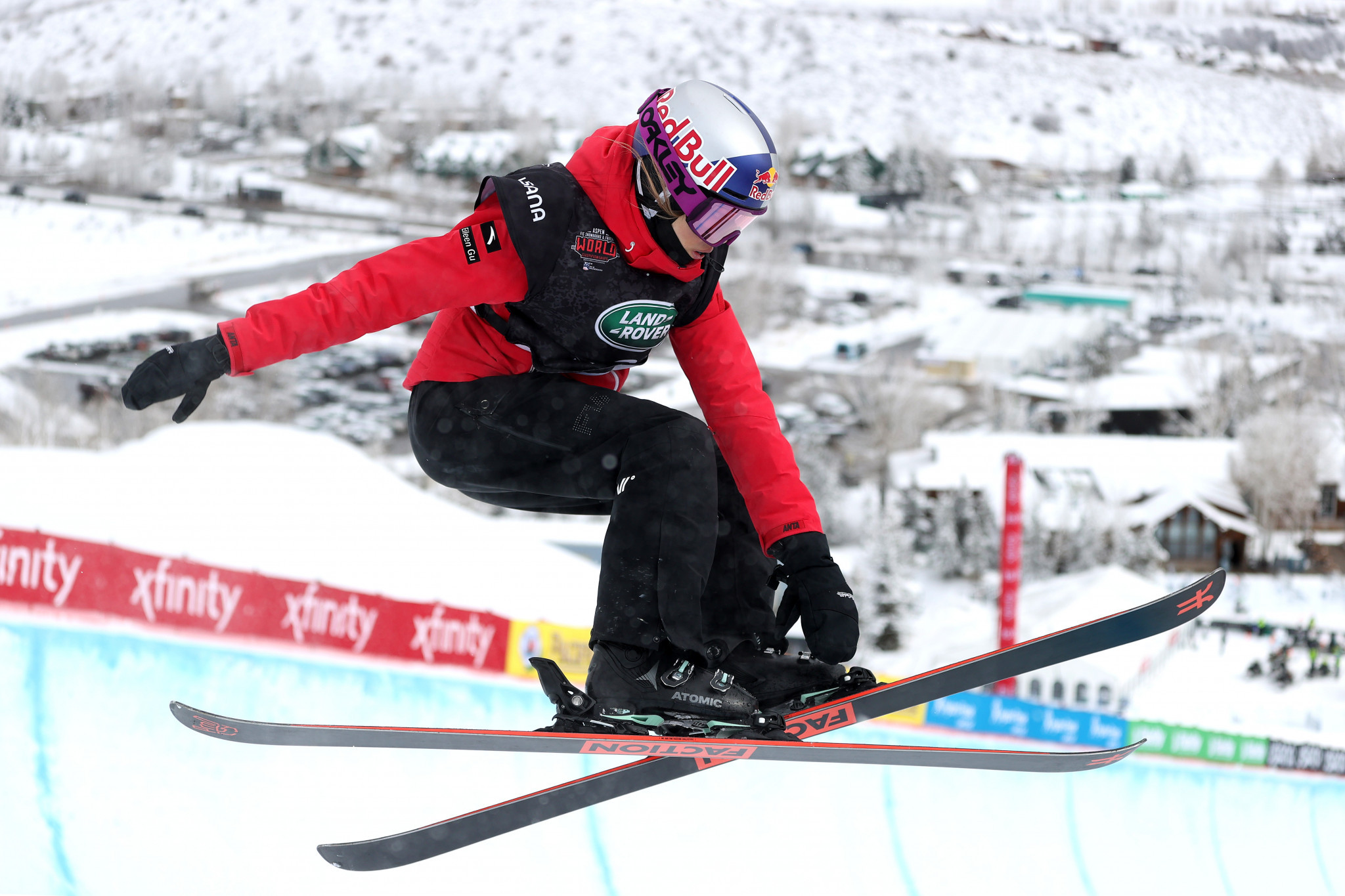 Gu claims second gold medal of FIS Snowboard and Freeski World Championships after winning ski slopestyle