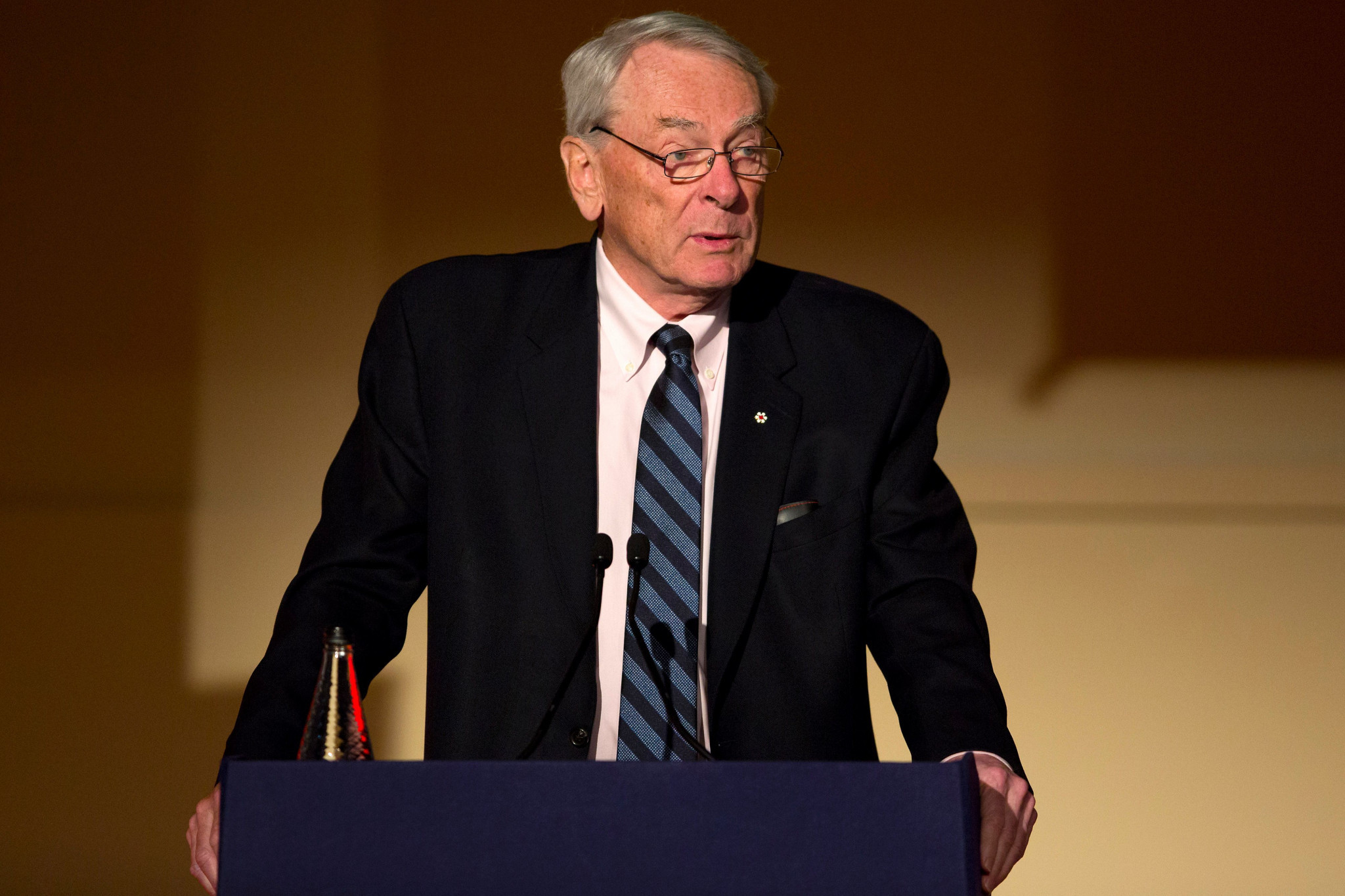 Our columnist argues that Richard Pound is one of the IOC members most likely to challenge President Thomas Bach's views ©Getty Images