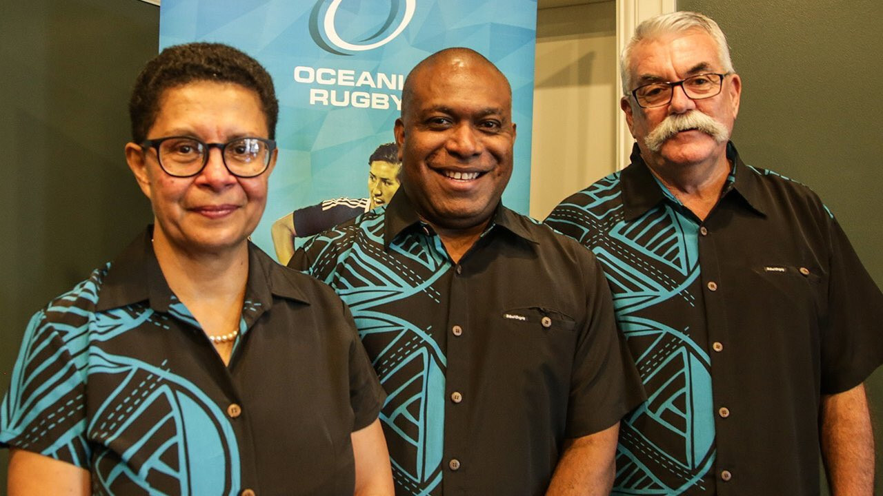 Cathy Wong, left, has been recognised on International Women's Day for her outstanding work in sport ©Oceania Rugby