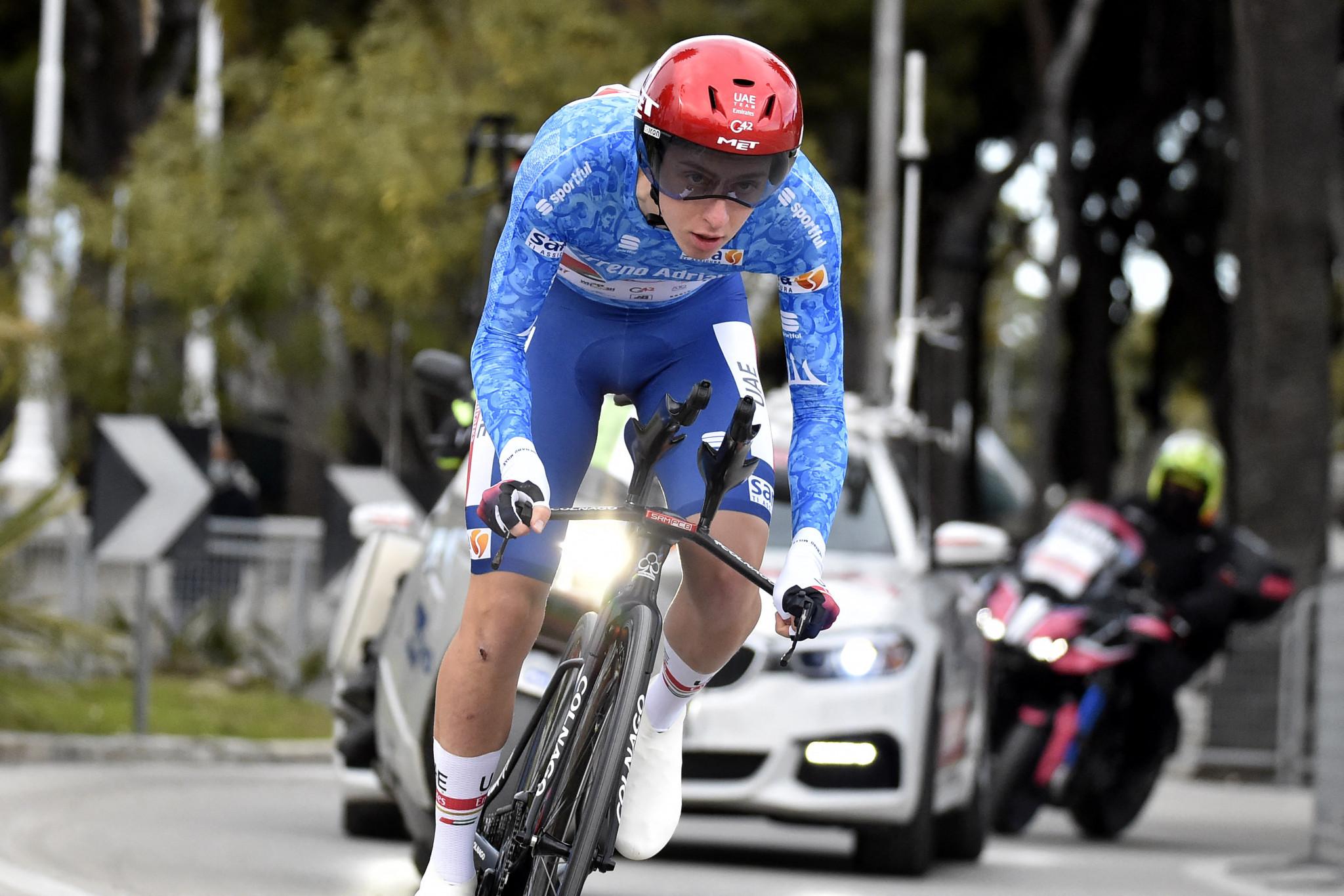 Pogačar wins Tirreno-Adriatico as Van Aert ends Ganna's time-trial streak