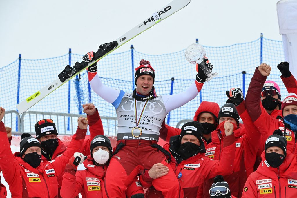 Feuz and Goggia win overall downhill titles after cancellation of races at Alpine Skiing World Cup finals