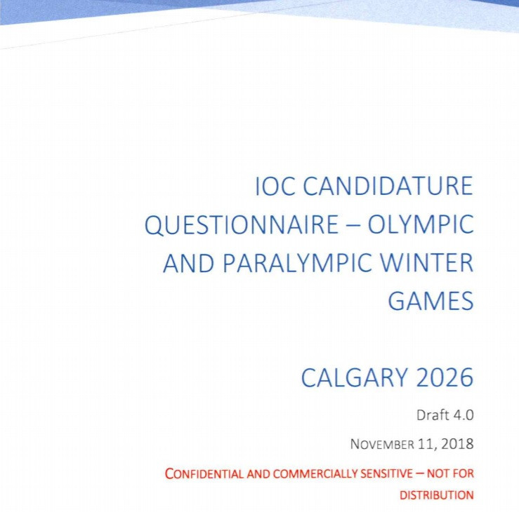Calgary 2026 bid book finally published after city's initial refusal