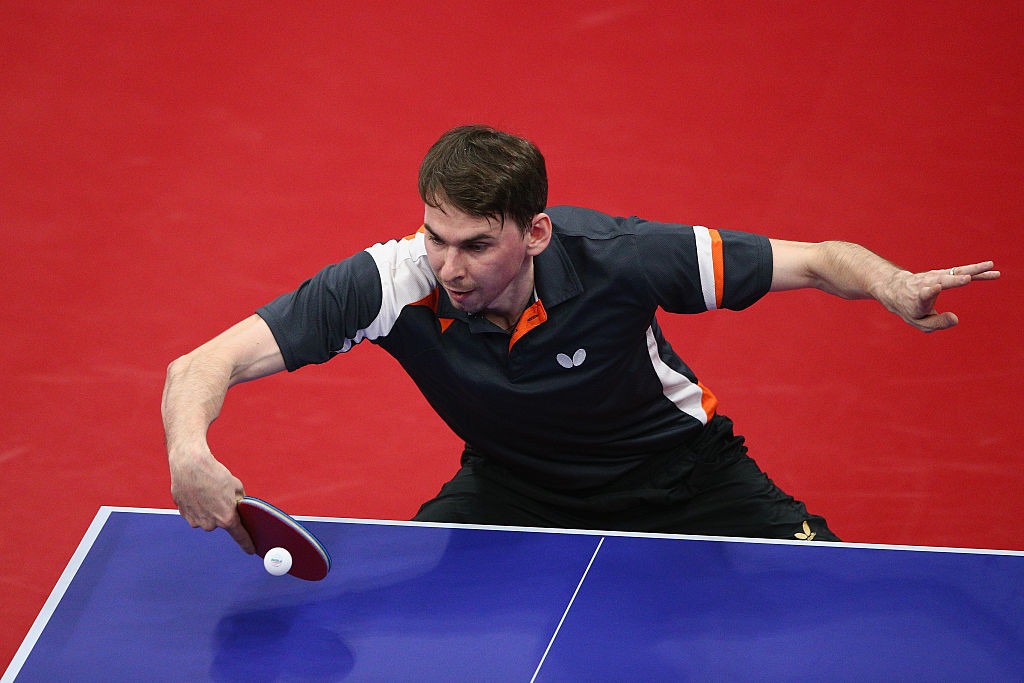 Russian Kirill Skachkov beat top seed Liam Pitchford of Britain to seal his Tokyo 2020 place ©Getty Images