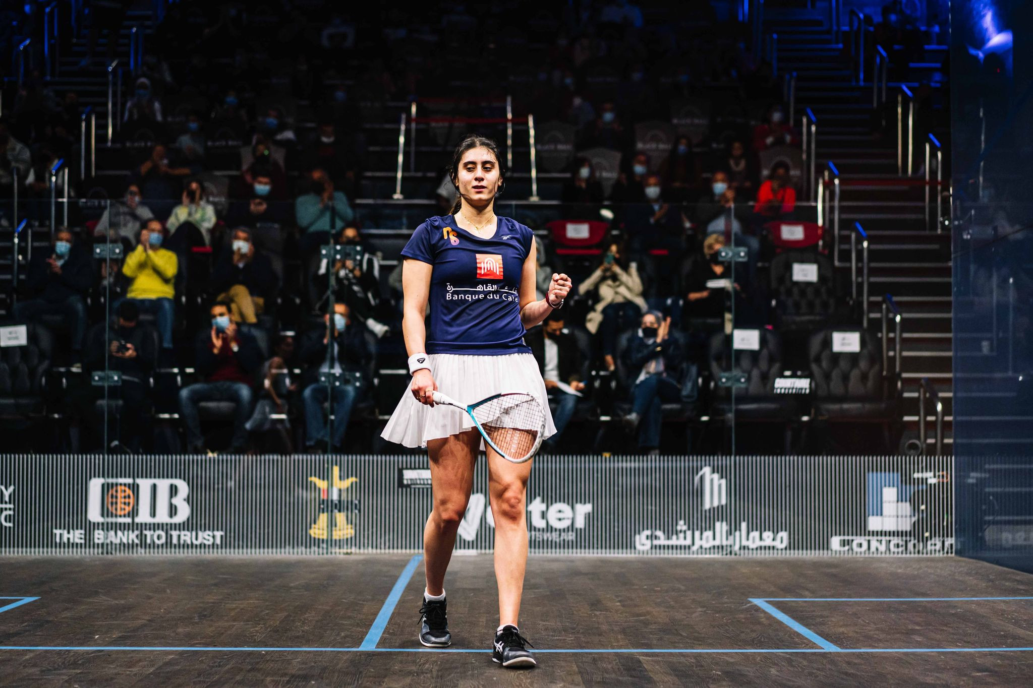 World number one El Sherbini to face Sobhy in CIB Black Ball Squash Open final