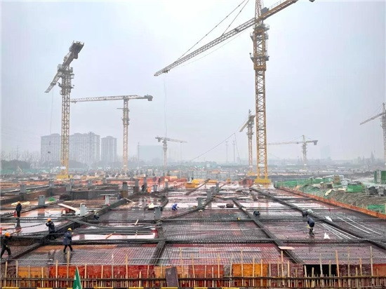 Foundations have been laid for the construction of the Baseball-Softball Sports Culture Center ©Hangzhou 2022
