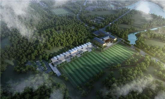 An artist's impression of what the Jianhu Football Field could look like ©Hangzhou 2022