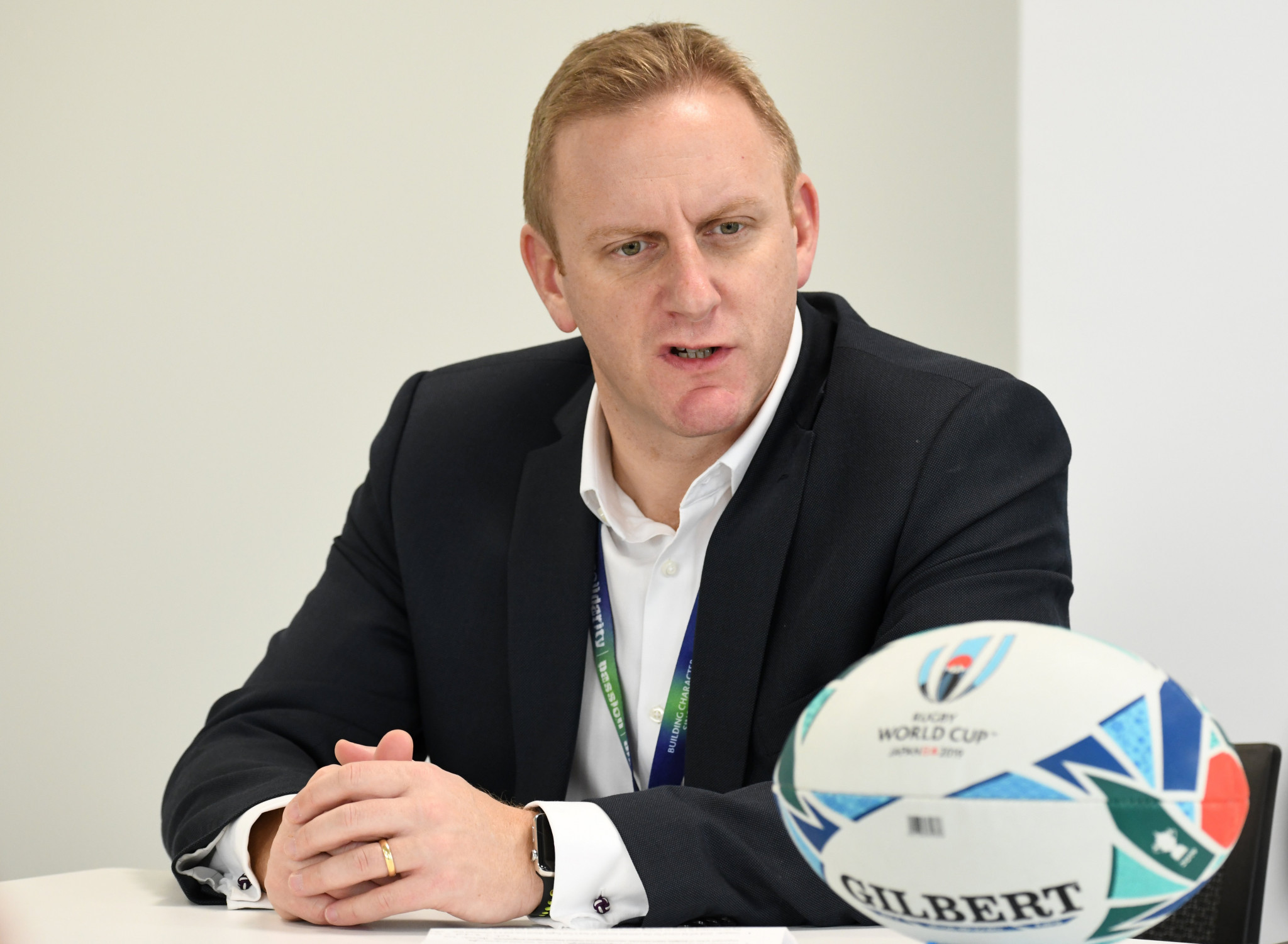 Alan Gilpin had served as World Rugby chief operating officer and managing director of Rugby World Cup since 2016 ©Getty Images