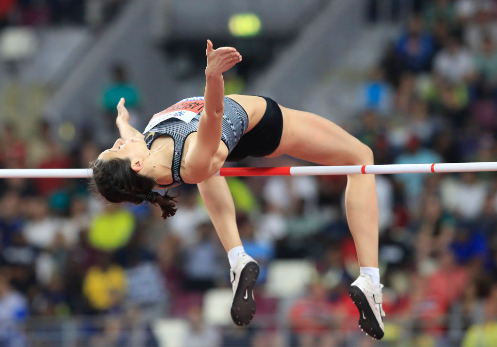 Russian athlete Mariya Lasitskene has won world high jump titles competing as an Authorised Neutral Athlete ©Getty Images